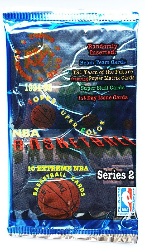 1994/95 Topps Stadium Club Basketball Series 2 Hobby Pack-Cherry Collectables