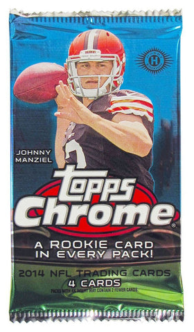 2014 Topps Chrome Football Hobby Pack - Cherry Collectables