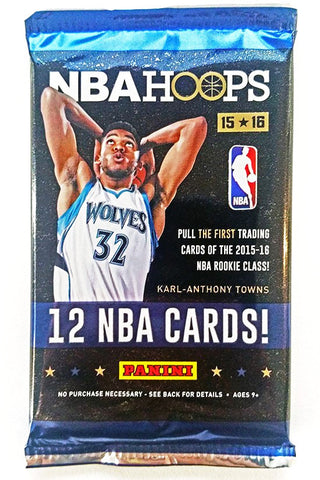 2015/16 NBA Hoops Basketball Hobby Pack - Cherry Collectables - 1