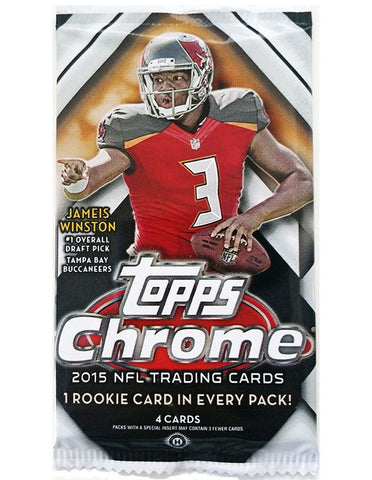 2015 Topps Chrome Football Hobby Pack - Cherry Collectables - 1
