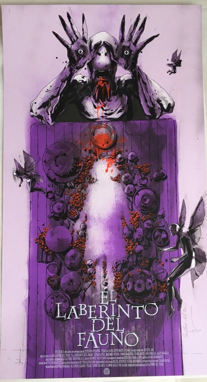 Pan's Labyrinth SDCC Exclusive Mondo Print Variant Signed Del Toro & Jock /175 - Cherry Collectables - 1