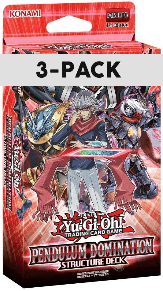 Yu-Gi-Oh! Pendulum Domination Structure 3-Deck Pack - Cherry Collectables