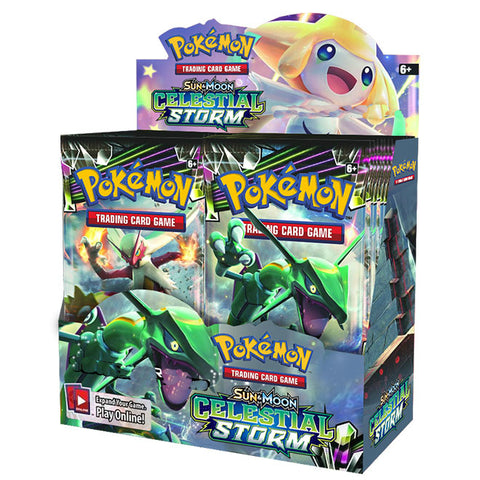 Pokemon TCG Sun & Moon Celestial Storm Booster Box-Cherry Collectables