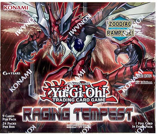 YU-GI-OH! TCG Raging Tempest Booster Box-Cherry Collectables