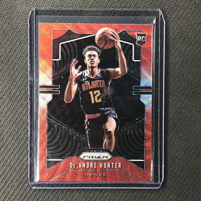 2019-20 Prizm DE'ANDRE HUNTER Ruby Wave Prizm Rookie #251-Cherry Collectables