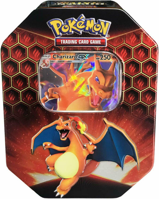 Pokemon TCG Hidden Fates Tin Charizard-Cherry Collectables