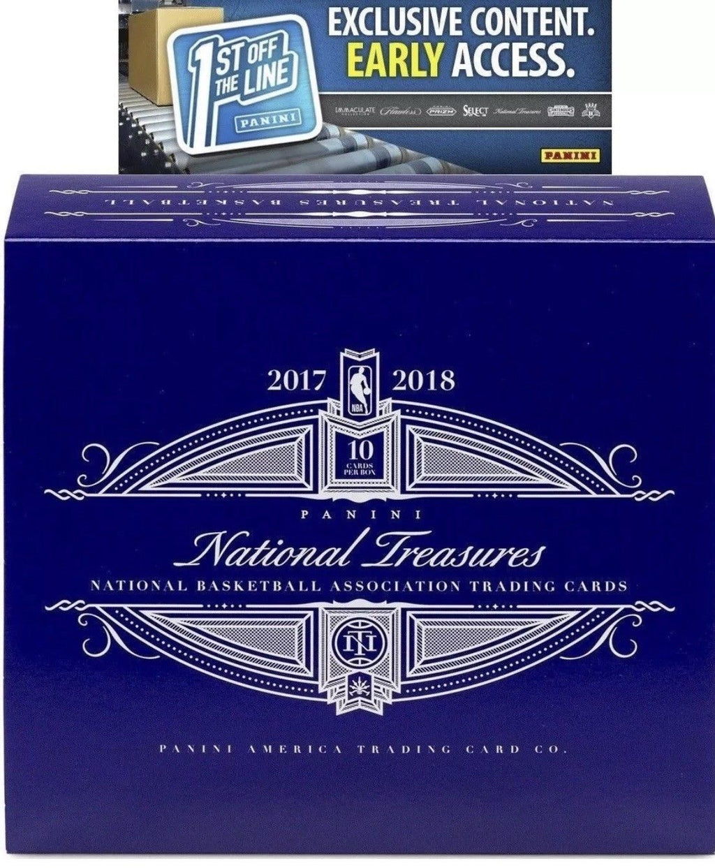 2017-18 Panini National Treasures Basketball 1st Off The Line (FOTL) Hobby Box-Cherry Collectables