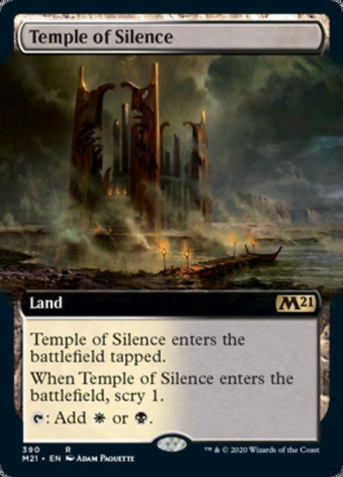 FOIL EXTENDED ART - Temple of Silence 390 - Core Set 2021-Cherry Collectables