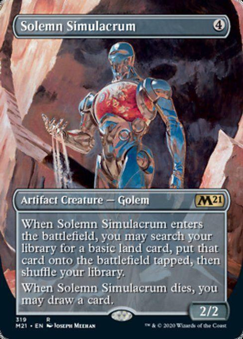 FOIL BORDERLESS - Solemn Simulacrum 319 - Core Set 2021-Cherry Collectables