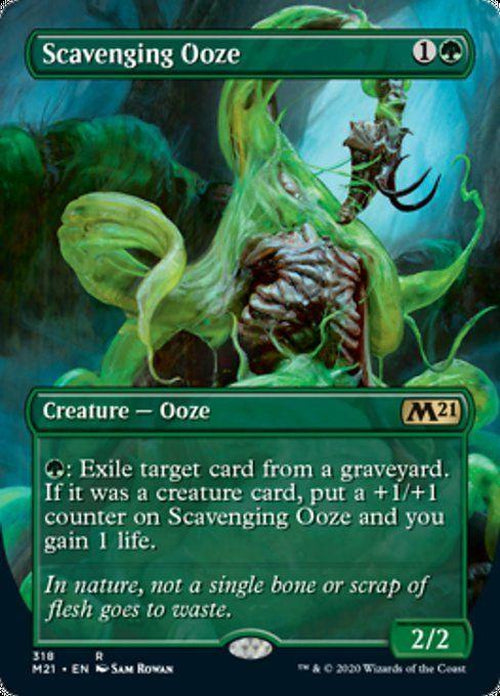 BORDERLESS - Scavenging Ooze 318 - Core Set 2021-Cherry Collectables