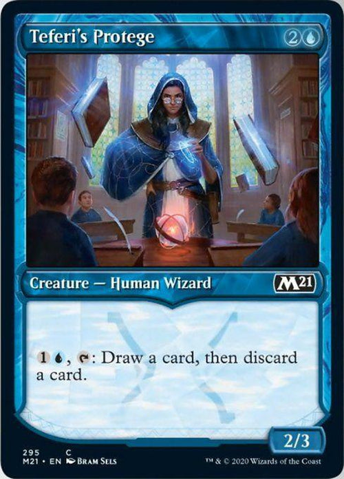 SHOWCASE - Teferi's Protege 295 - Core Set 2021 - PLAYSET (4)-Cherry Collectables