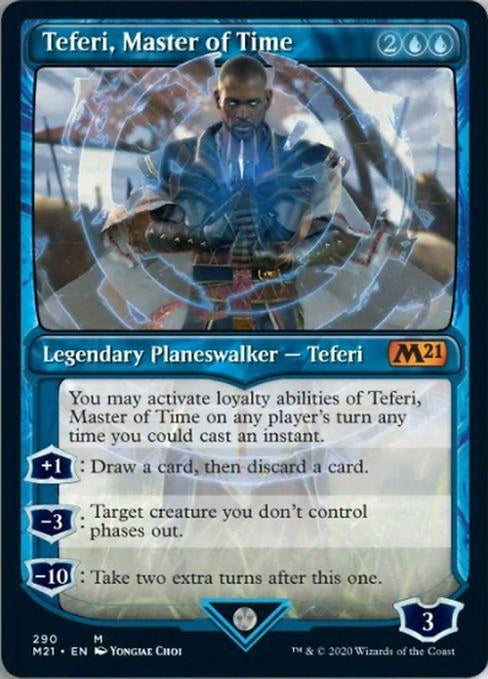 SHOWCASE - Teferi, Master of Time 290 - Core Set 2021-Cherry Collectables