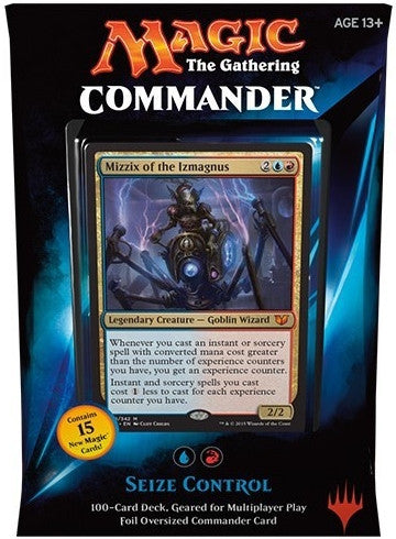 Magic the Gathering Commander Deck (2015) - Seize Control (Blue/Red) - Cherry Collectables