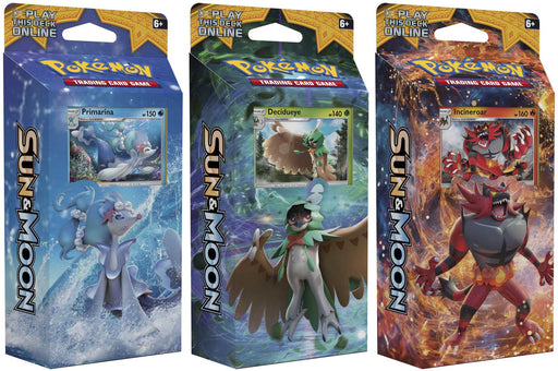 POKEMON TCG Sun & Moon 3-Theme Deck Pack-Cherry Collectables