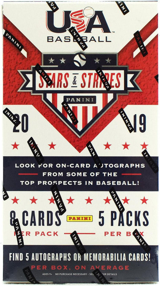 2019 Panini USA Stars & Stripes Baseball Hobby Box-Cherry Collectables
