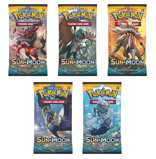 Pokemon TCG Sun & Moon Booster Pack-Cherry Collectables