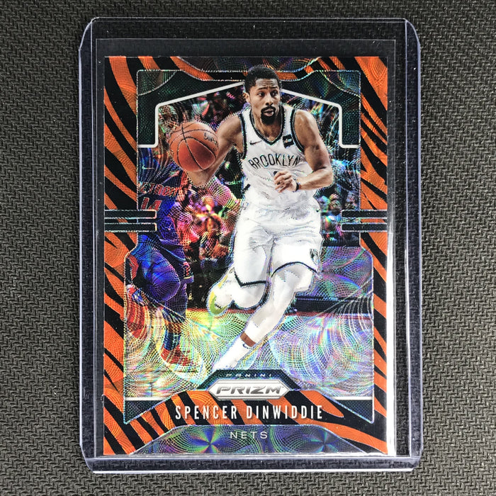 2019-20 Prizm SPENCER DINWIDDIE Tiger Prizm SSP #48-Cherry Collectables