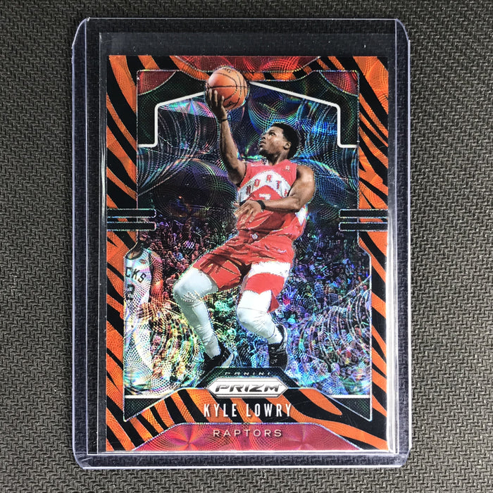 2019-20 Prizm KYLE LOWRY Tiger Prizm SSP #155-Cherry Collectables