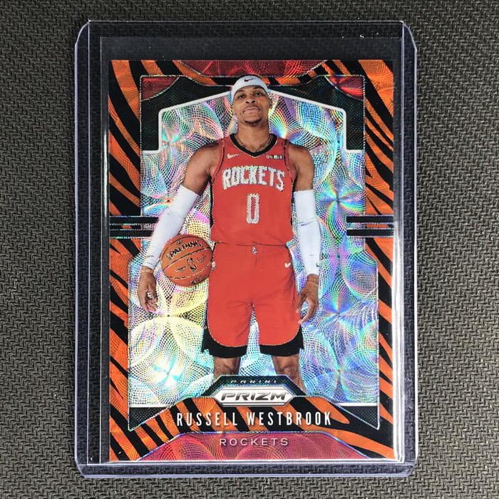 2019-20 Prizm RUSSELL WESTBROOK Tiger Prizm SSP #182-Cherry Collectables