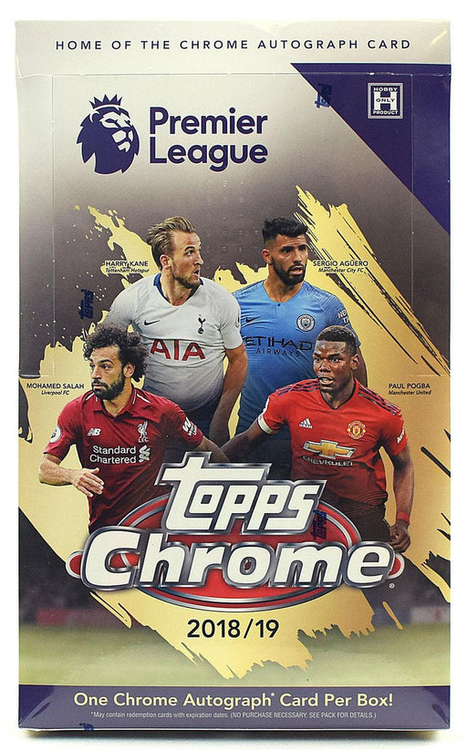 2018-19 Topps Chrome Premier League Soccer Hobby Box-Cherry Collectables