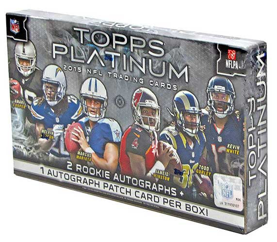 2015 Topps Platinum Football Hobby Box-Cherry Collectables