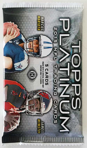 2015 Topps Platinum Football Hobby Pack - Cherry Collectables