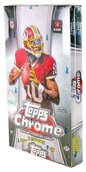 2012 Topps Chrome Football Hobby Box-Cherry Collectables