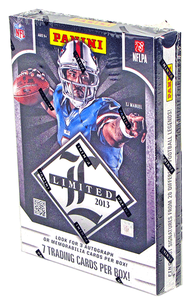 2013 Panini Limited Football Hobby Box-Cherry Collectables