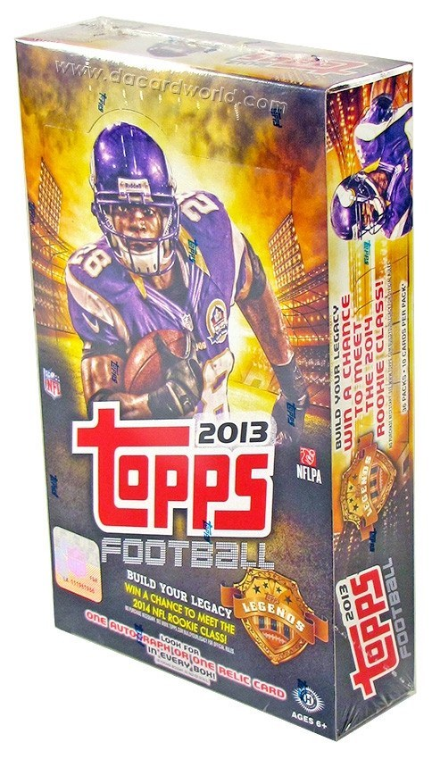 2013 Topps Football Hobby Box-Cherry Collectables