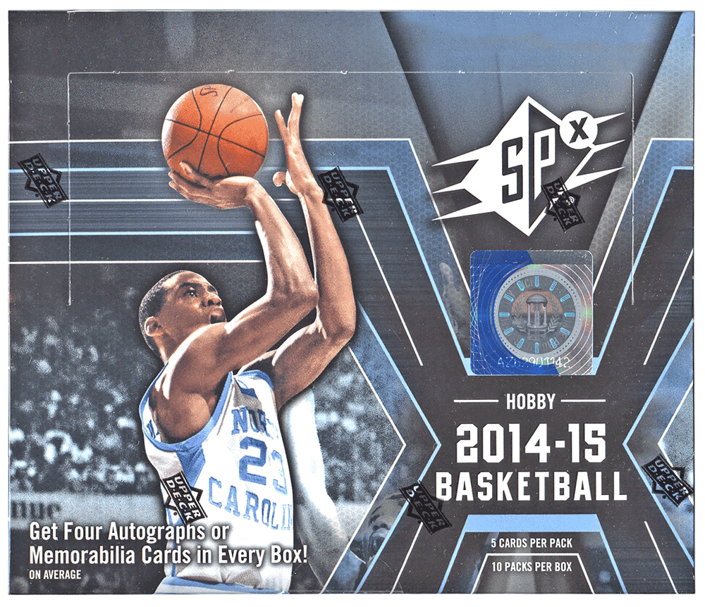 2014/15 Upper Deck SPx Basketball Hobby Box - Cherry Collectables