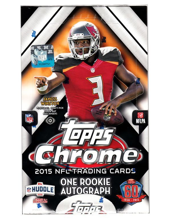 2015 Topps Chrome Football Hobby Box-Cherry Collectables
