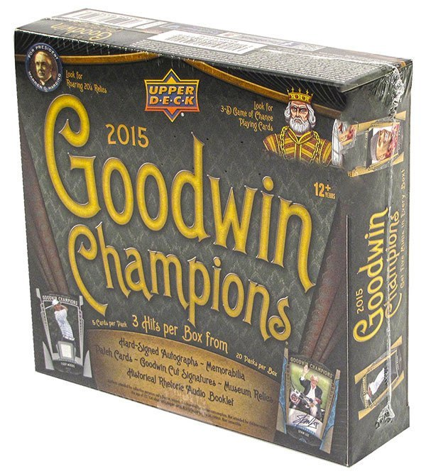 2015 Upper Deck Goodwin Champions Hobby Box-Cherry Collectables