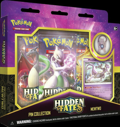 Pokemon TCG Hidden Fates Pin Collection - Mewtwo-Cherry Collectables