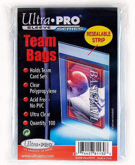 Ultra Pro Sleeves Team Bags - Resealable - 100 Per Pack-Cherry Collectables