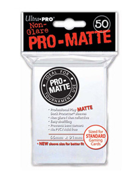 Ultra PRO - White Standard - Pro-Matte Deck Protector® Sleeves 50ct-Cherry Collectables