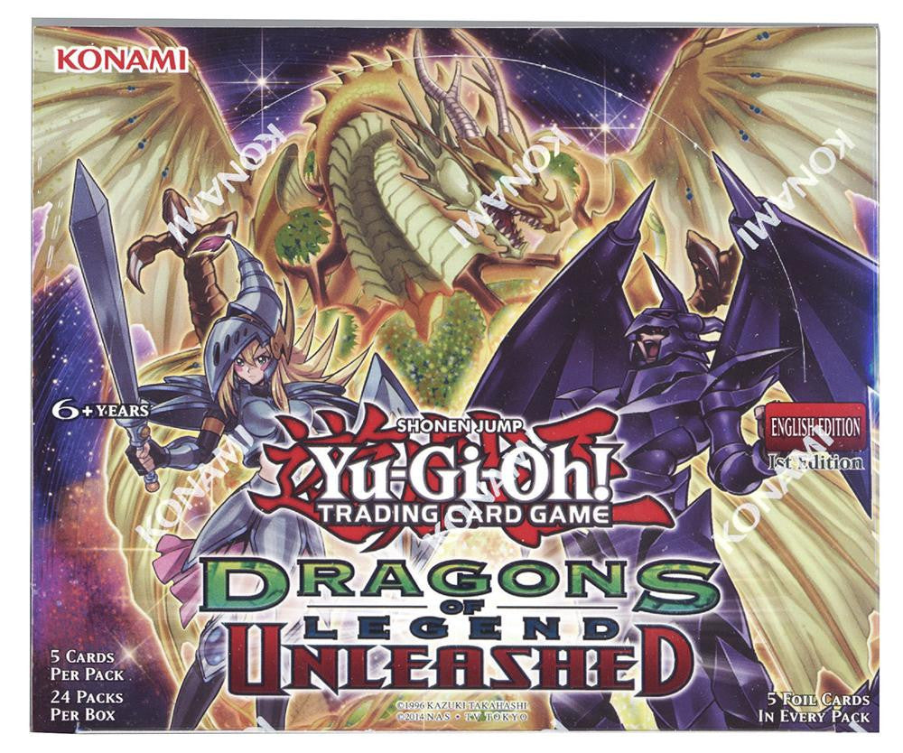 Yu-GI-Oh! Dragons of Legend Unleashed Booster Box-Cherry Collectables