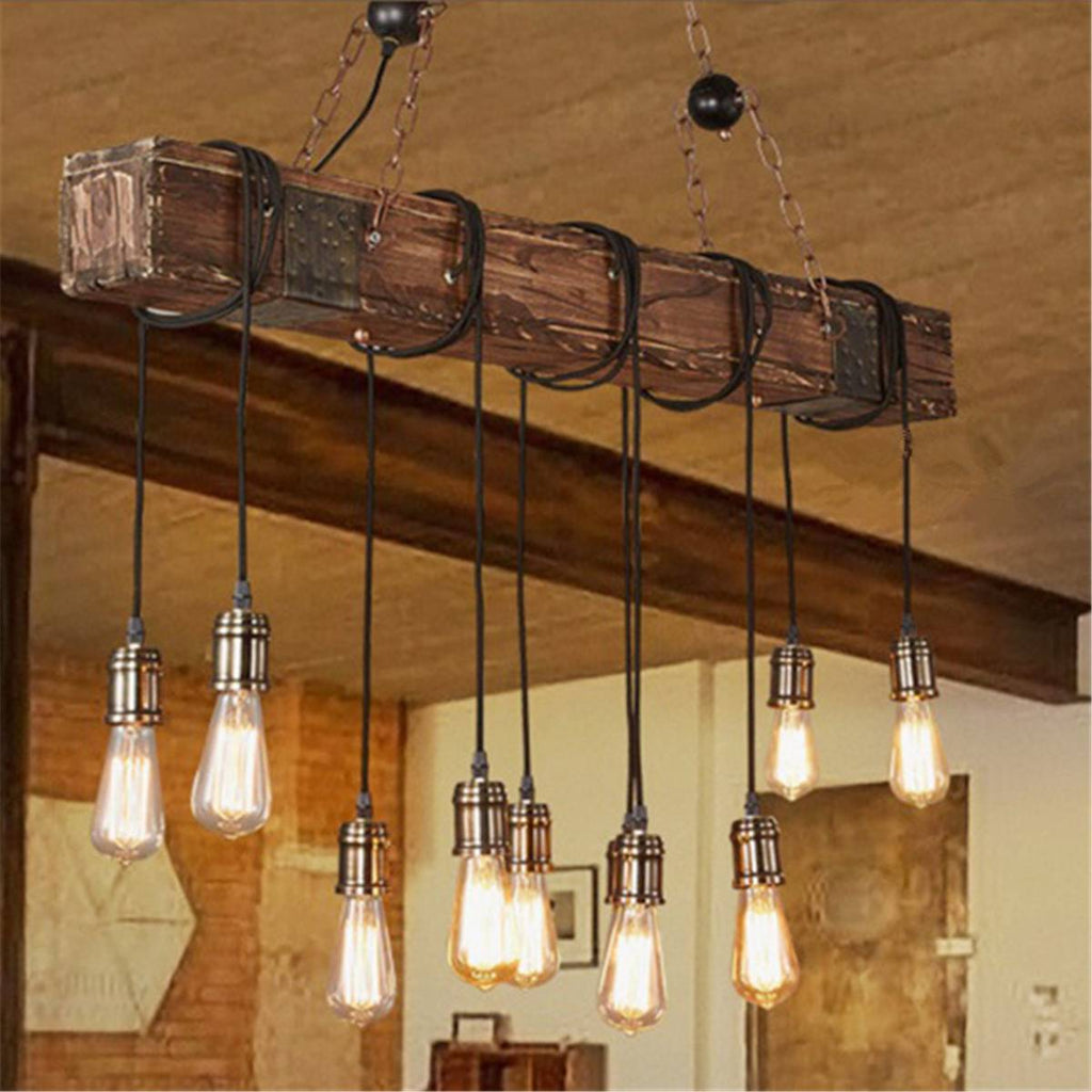 Rustic Beam Light Fixture