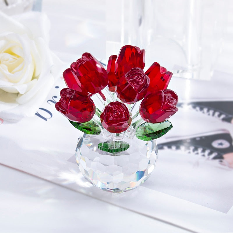 Crystal Red Rose