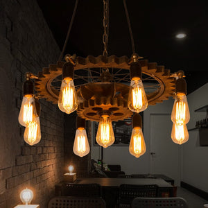 Retro Gear Chandelier