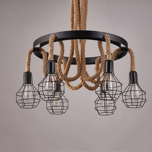 Retro Rope Chandelier