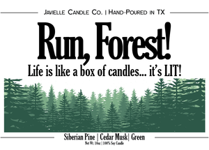 Run, Forest! Soy Candle