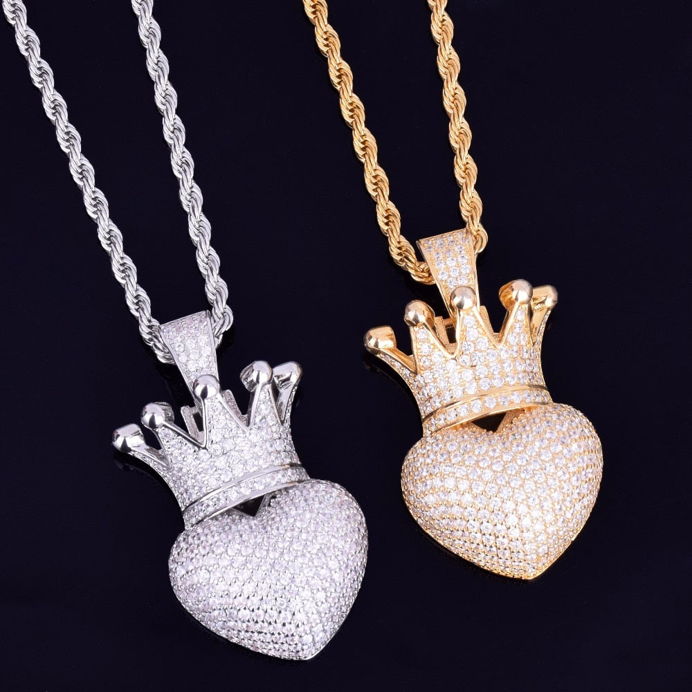 Crown Heart Pendant