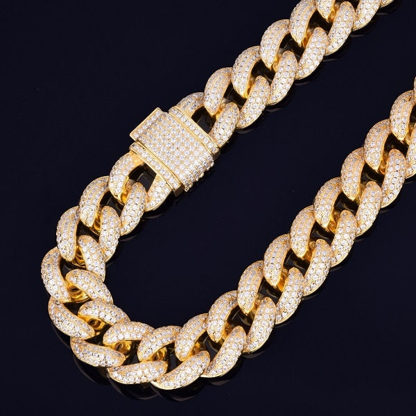 Iced Out 23mm Heavy Miami Cuban Link Necklace