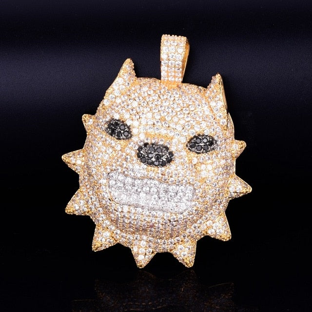 Iced Out Dog Head Pendant
