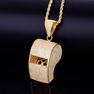 Iced Out Whistle Pendant