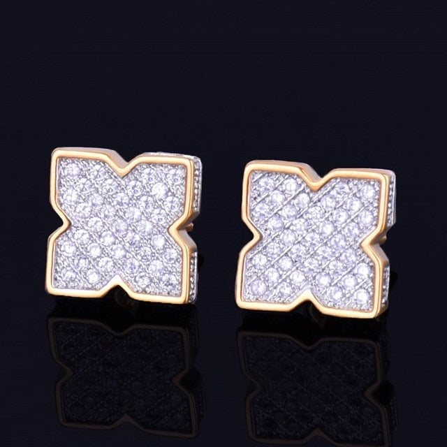 9MM Flower Stud Earrings