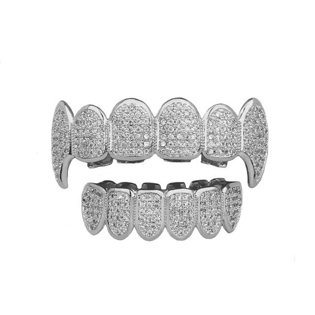 Iced Out Heavy Vampire Fang Grillz Top & Bottom