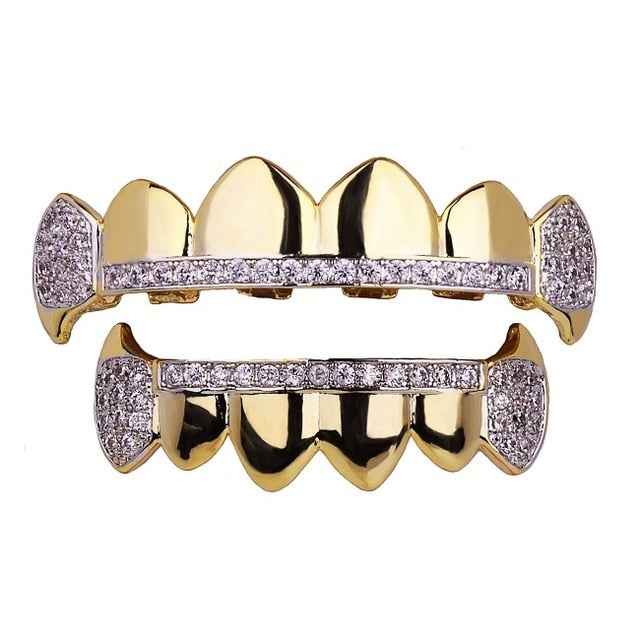 Iced Out Vampire Fang Grillz Top & Bottom