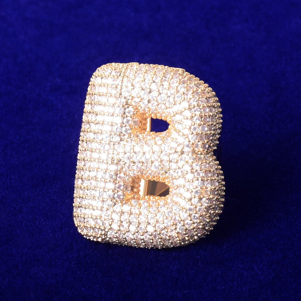 Custom A-Z Bubble Letter Ring
