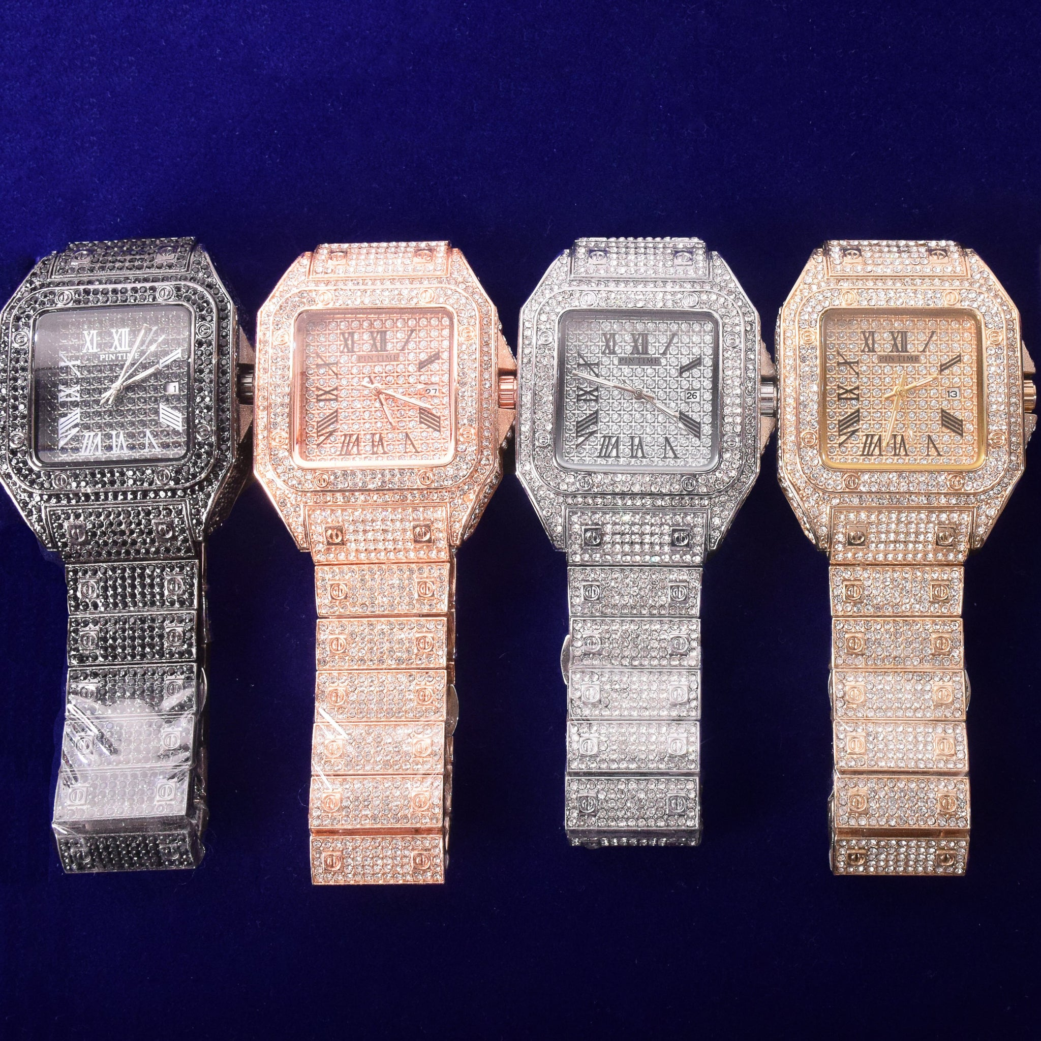 Iced Out Square Luxury Watch